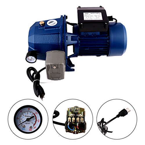 HOMDOX 1200W Home Garden Irrigation Water Pump Shallow Well Pressurized 3200L//H