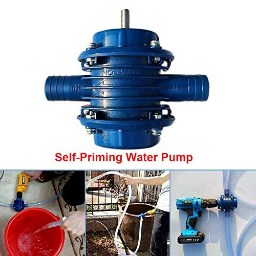 Heavy Duty Self-Priming Hand Electric Drill Water Pump Home Garden Centrifugal